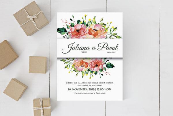 Kvetinové svadobné oznámenie KSO93