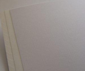 Svadobné oznámenia - papier Opale Fabric Purewhite