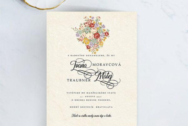 Jednoduché svadobné oznámenie JSO42