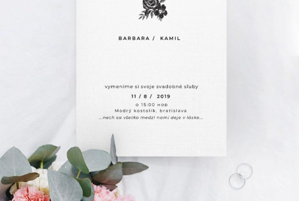 Jednoduché svadobné oznámenie JSO50