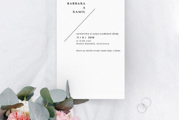 Jednoduché svadobné oznámenie JSO51