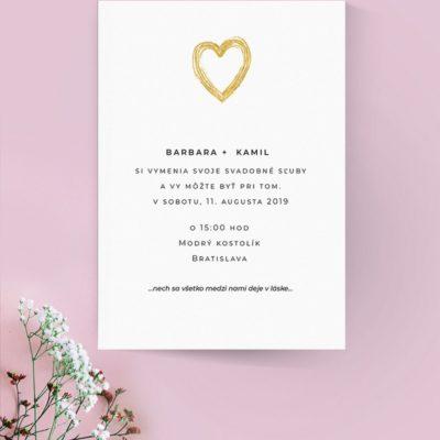 Jednoduché svadobné oznámenie JSO54