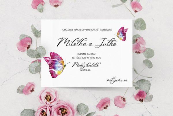 Jednoduché svadobné oznámenie JSO59