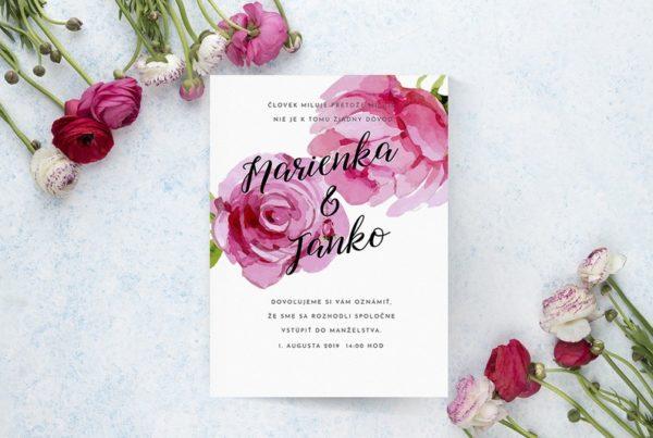 Kvetinové svadobné oznámenie KSO49