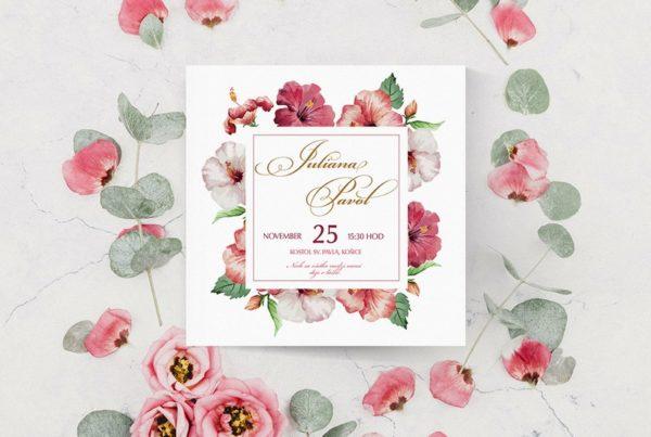 Kvetinové svadobné oznámenie KSO52
