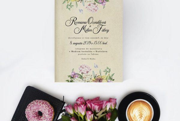 Kvetinové svadobné oznámenie KSO56