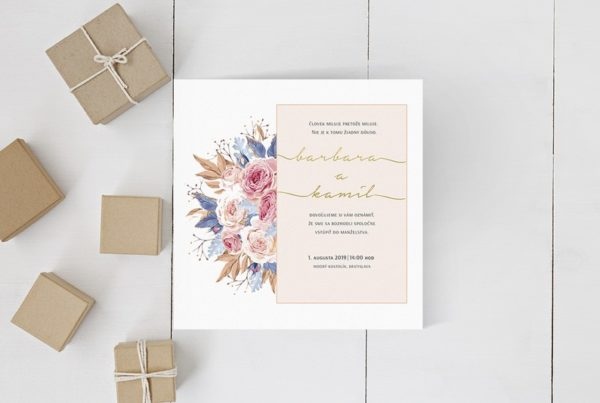 Kvetinové svadobné oznámenie KSO57