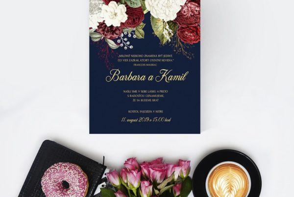 Kvetinové svadobné oznámenie KSO59