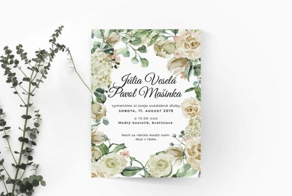 Kvetinové svadobné oznámenie KSO61