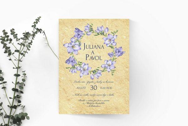 Kvetinové svadobné oznámenie KSO63