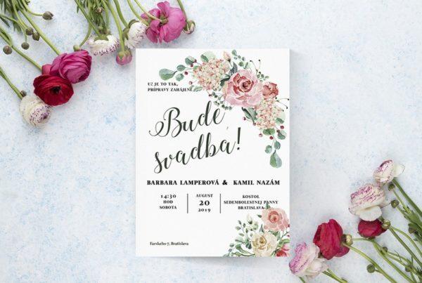 Kvetinové svadobné oznámenie KSO64