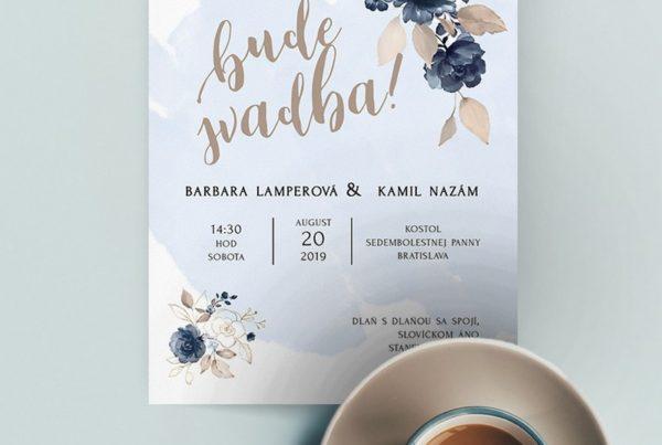 Kvetinové svadobné oznámenie KSO65