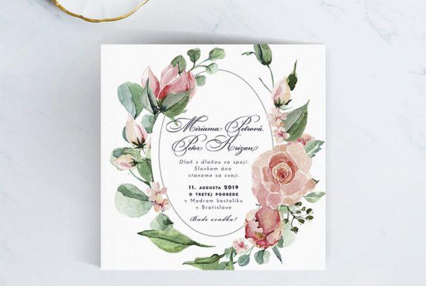 Kvetinové svadobné oznámenie KSO66