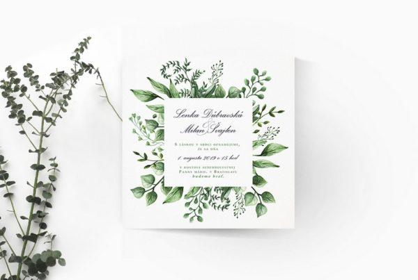 Kvetinové svadobné oznámenie KSO67