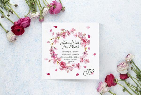 Kvetinové svadobné oznámenie KSO68