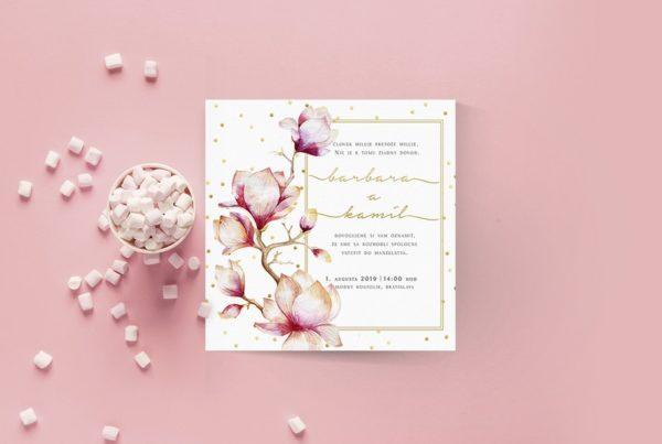 Kvetinové svadobné oznámenie KSO69