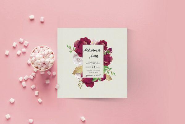 Kvetinové svadobné oznámenie KSO71