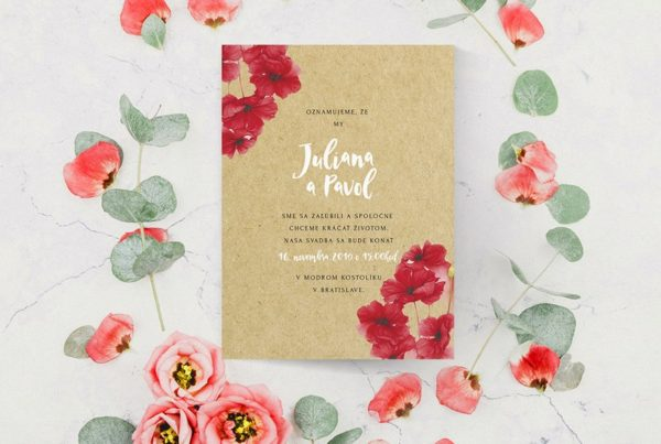 Kvetinové svadobné oznámenie KSO72