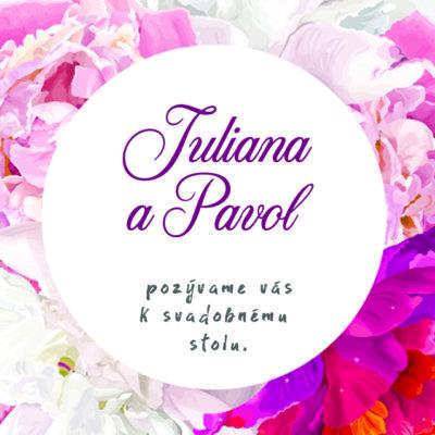 Kvetinové svadobné oznámenie KSO73