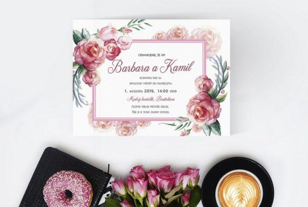 Kvetinové svadobné oznámenie KSO75