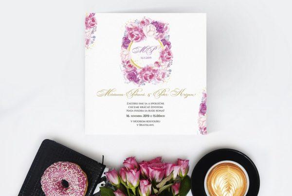 Kvetinové svadobné oznámenie KSO76