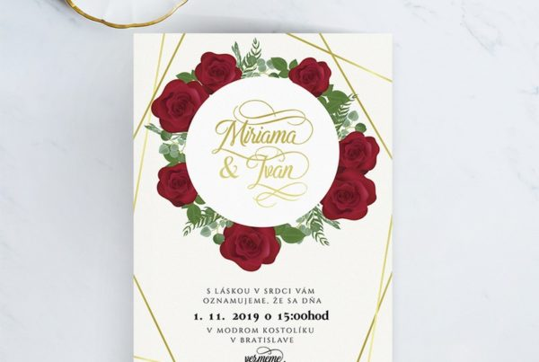 Kvetinové svadobné oznámenie KSO77