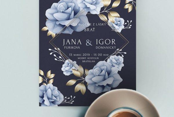 Kvetinové svadobné oznámenie KSO78