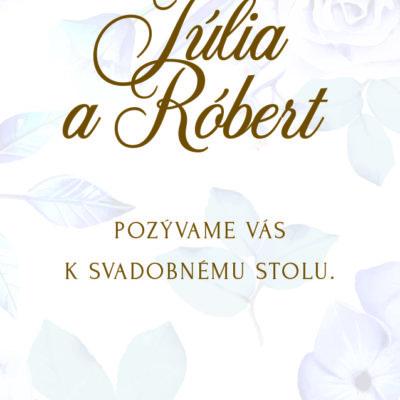 Kvetinové svadobné oznámenie KSO79