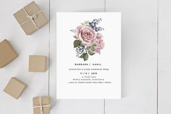 Kvetinové svadobné oznámenie KSO80