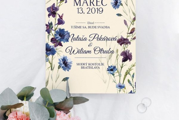 Kvetinové svadobné oznámenie KSO81