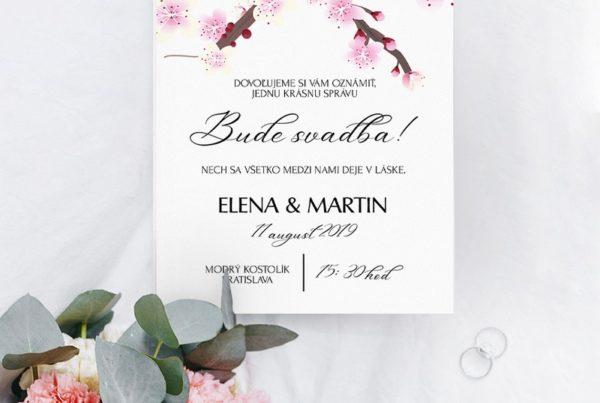 Kvetinové svadobné oznámenie KSO82