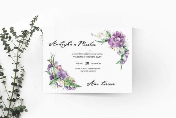 Kvetinové svadobné oznámenie KSO83