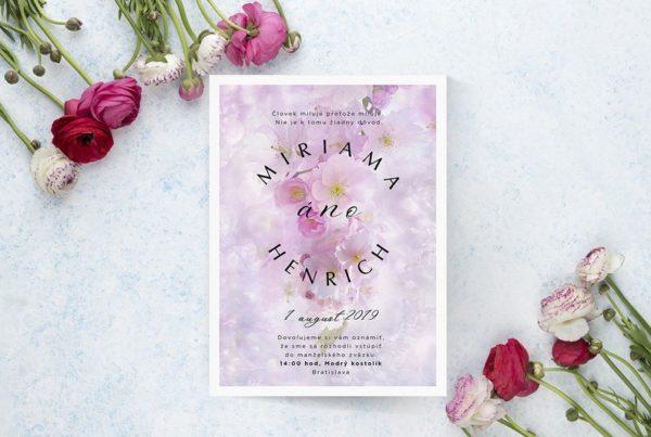 Kvetinové svadobné oznámenie KSO84
