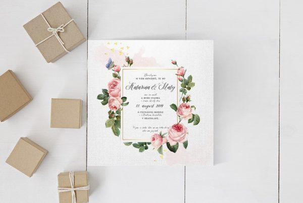 Kvetinové svadobné oznámenie KSO85