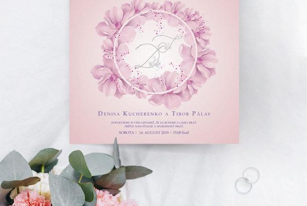 Kvetinové svadobné oznámenie KSO87