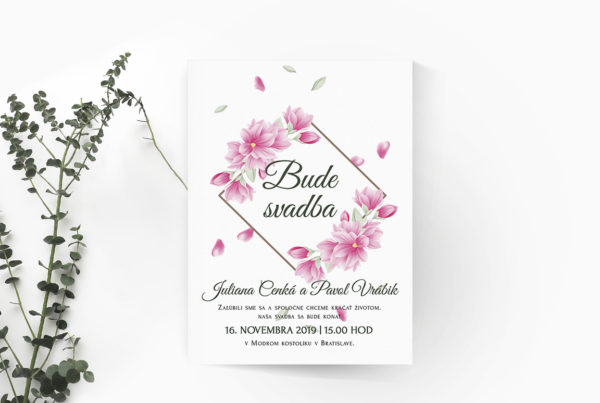 Kvetinové svadobné oznámenie KSO89