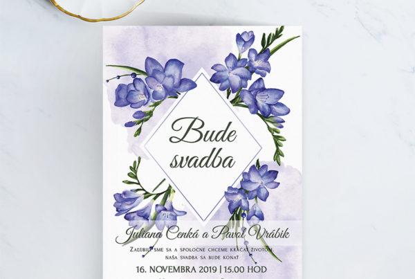Kvetinové svadobné oznámenie KSO91