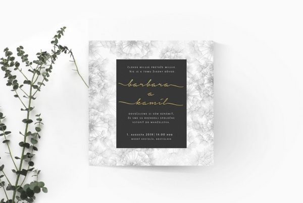 Luxusné svadobné oznámenie LSO100
