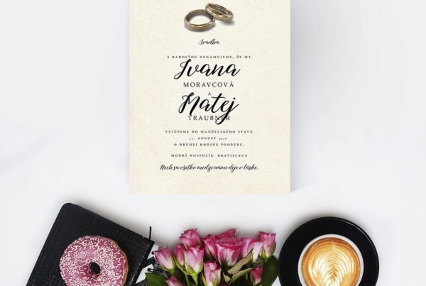 Luxusné svadobné oznámenie LSO103