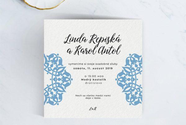 Luxusné svadobné oznámenie LSO105