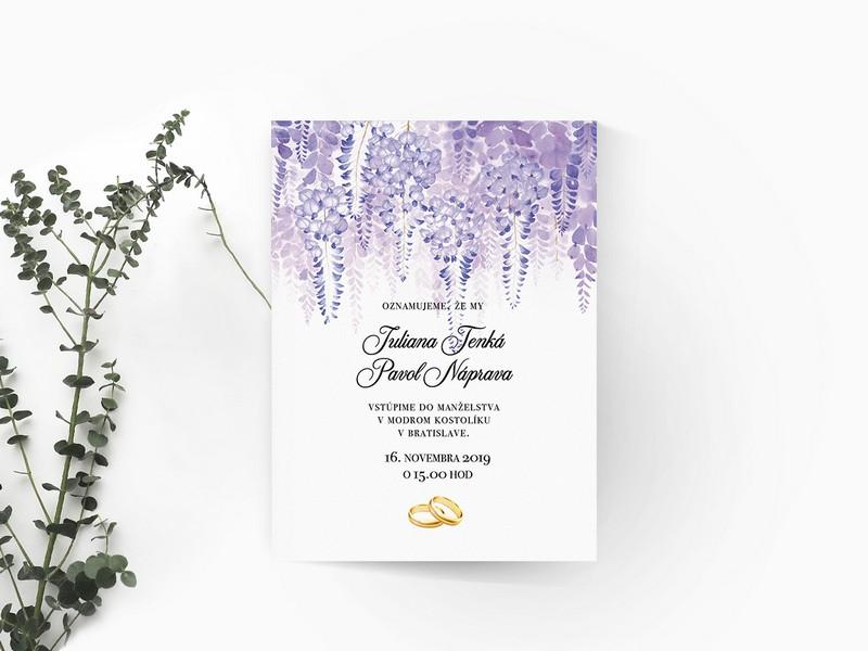 Luxusné svadobné oznámenie LSO106