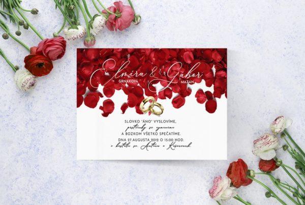 Luxusné svadobné oznámenie LSO107