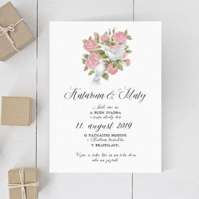 Luxusné svadobné oznámenie LSO108