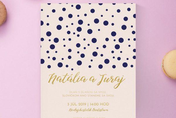 Luxusné svadobné oznámenie LSO109