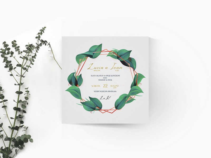 Luxusné svadobné oznámenie LSO112