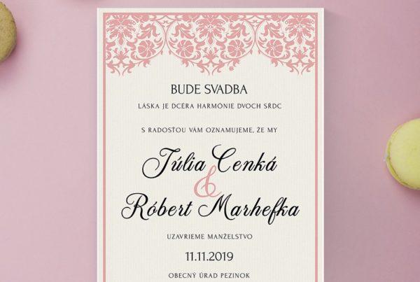 Luxusné svadobné oznámenie LSO114