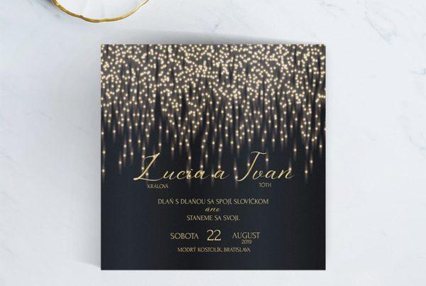 Luxusné svadobné oznámenie LSO115
