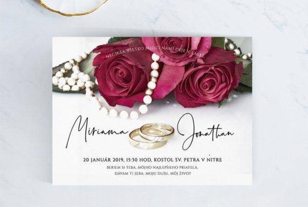 Luxusné svadobné oznámenie LSO117