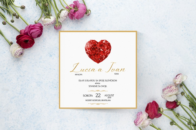Luxusné svadobné oznámenie LSO119