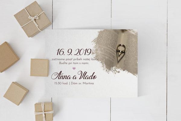 Luxusné svadobné oznámenie LSO68